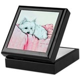 Napping Westie Keepsake Box