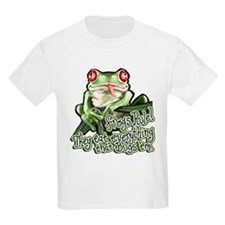 Frogs Rule! Kids T-Shirt