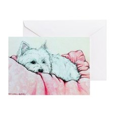 Napping Westie Greeting Card