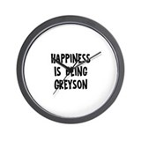 Happiness is being Greyson  Wall Clock