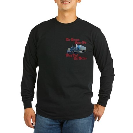 Old Timers Never Die Long Sleeve Dark T-Shirt