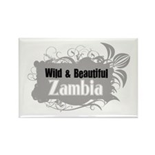 Cute Zambian Rectangle Magnet