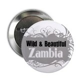 "Cute Zambia map 2.25"" Button (10 pack)"