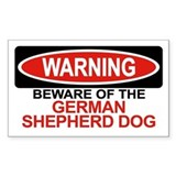 GERMAN SHEPHERD DOG Rectangle Decal