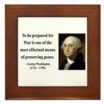 George Washington 15 Framed Tile