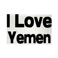 I love Yemen Rectangle Magnet