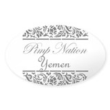 Pimp nation Yemen Oval Decal