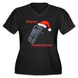 Happy Euphonium! Women's Plus Size V-Neck Dark T-S