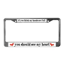 Cute Triplet babies License Plate Frame