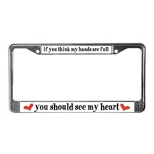 Unique Triplet mother License Plate Frame