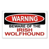 IRISH WOLFHOUND Rectangle Decal