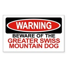 GREATER SWISS MOUNTAIN DOG Rectangle Decal