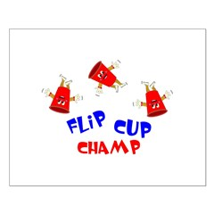Flip Cup Champ Small Poster