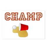 Beer Pong Champ Postcards (Package of 8)