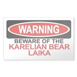 KARELIAN BEAR LAIKA Rectangle Bumper Stickers