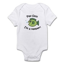 Pap Says I'm a Keeper! Infant Bodysuit