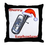 Merry Euphonium! Throw Pillow