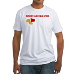 Drunk Man Walking Fitted T-Shirt