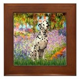 Garden / Dalmation Framed Tile