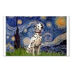 Starry /Dalmatian Sticker (Rectangle)