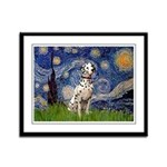 Starry /Dalmatian Framed Panel Print