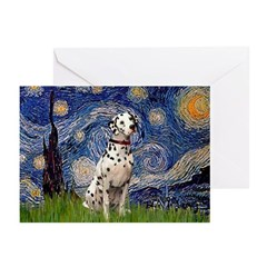 Starry /Dalmatian Greeting Cards (Pk of 20)