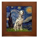 Starry /Dalmatian Framed Tile