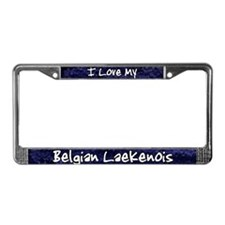 Funky Love Belgian Laekenois License Plate Frame