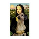 Mona / Great Dane Sticker (Rectangle)