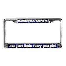 Frry People Bedlington Terrier License Plate Frame