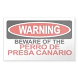 PERRO DE PRESA CANARIO Rectangle Bumper Stickers