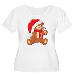 Christmas Bear Women's Plus Size Scoop Neck T-Shir