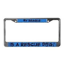Rescue Dog Beagle License Plate Frame
