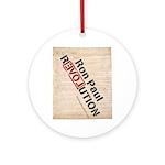Ron Paul Constitution Pendant/Ornament (Round)