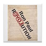 Ron Paul Constitution Tile Coaster