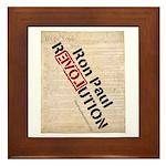 Ron Paul Constitution Framed Tile