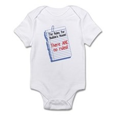 No Rules at Bubbie's House Funny Baby Onesie