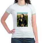 Mona / Gr Dane (bl) Jr. Ringer T-Shirt