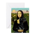 Mona / Gr Dane (bl) Greeting Card