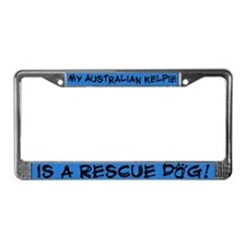 Rescue Dog Australian Kelpie License Plate Frame