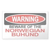 NORWEGIAN BUHUND Rectangle Bumper Stickers