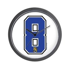 FI Finland Suomi Hockey 8 Wall Clock