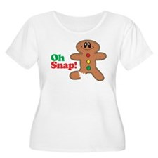 Christmas Gingerbread Oh Snap T-Shirt