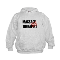 Off Duty Massage Therapist Kids Hoodie