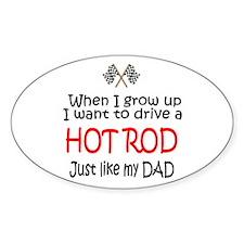 WIGU Hot Rod Dad Oval Sticker