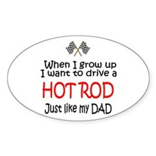 WIGU Hot Rod Dad Oval Decal