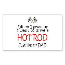 WIGU Hot Rod Dad Rectangle Sticker