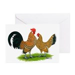 Mille Fleur Dutch Bantams Greeting Cards (Pk of 20