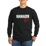 Off Duty Manager Long Sleeve Dark T-Shirt