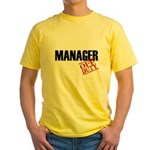 Off Duty Manager Yellow T-Shirt